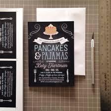 pancakes and pajamas bridal shower invitation studio b print