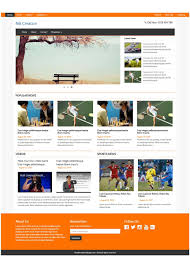 Free Template Html by Free Responsive Magazine Html Templates On Behance