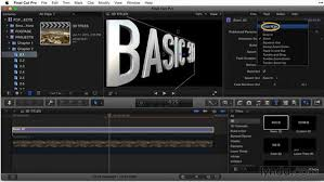 working with the basic 3d title template