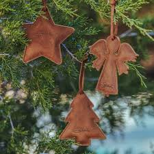 leather christmas ornaments genuine full grain leather