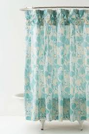 sequin shells pale aqua coastal shower curtain honeycomb aqua