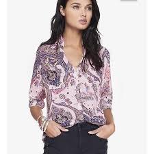 paisley blouse 50 express tops express portofino shirt pink paisley nwt