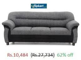 Online Shopping Of Sofa Set Fabric 3 Seater Sofas Finish Color Grey Online 62 Off At Flipkart