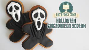 scream gingerbread men cookies for halloween youtube