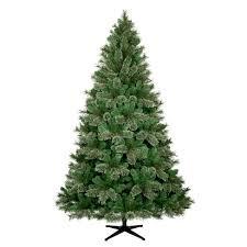 frosted christmas tree 7 5ft unlit artificial christmas tree virginia pine wondershop