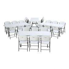 Folding Table Adjustable Height Furniture Lifetime Stacking Chairs Folding Tables Adjustable