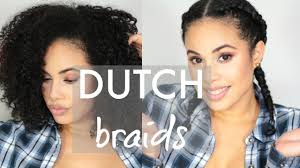 Curly Hair Braid Extensions by Dutch Braids On Curly Hair Youtube