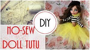 diy how to make a no sew doll tutu skirt easy handmade craft