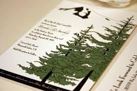 mountain wedding invitations trees and mountain wedding invitation pocketfold mt oregon
