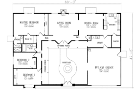 small courtyard house plans floor plan shaped modern design log casa swimming central house