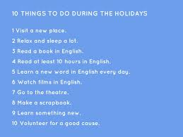 10 things to do during the holidays helbling readers