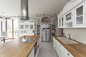 Beautiful Traditional Kitchen Designs Designing Idea - White kitchen cabinets with butcher block countertops