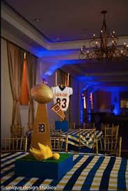 Football Banquet Centerpiece Ideas by Football Sports Jersey Centerpieces With Sports Equipment Looks