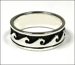 silver band wave silver band ring plus size thesilvernet