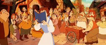 gif disney princess books beauty beast belle