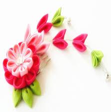 kanzashi hair pin online shop 4pcs free shipping ribbon kanzashi flower hair claws