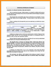 Durable Power Of Attorney Financial Form by 8 General Power Of Attorney Form Florida Scholarship Letter