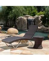 Outdoor Wicker Chaise Lounge Great Deals On Thira Outdoor Aluminum Wicker Chaise Lounge By