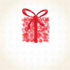 gift box bows abstract gift box with bow made of light circles royalty free