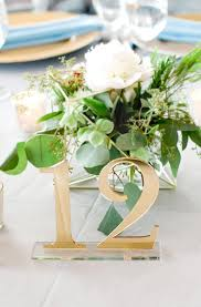 silver wedding table numbers acrylic table numbers for wedding party or event gold or silver