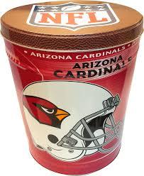 arizona cardinals nfl popcorn tin kettle heroes artisan popcorn