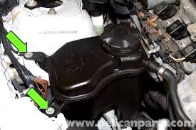 bmw e90 coolant tank replacement e91 e92 e93 pelican parts
