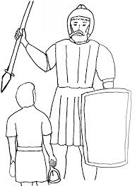 Bible Story Coloring Page For David And Goliath Free Bible Children Bible Stories Coloring Pages
