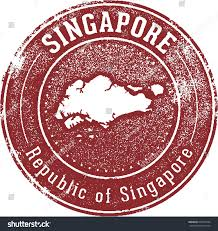vintage style singapore country stamp stock vector 298516784