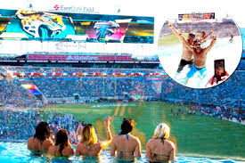 Everbank Field Map Jacksonville Jaguars Everbank Field Boasts A Swimming Pool Where