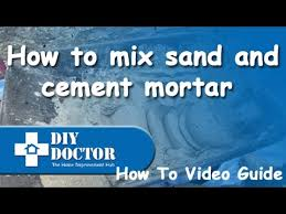 Sand Cement Mix For Patio Mixing Sand And Cement Mortar Using A Plasticiser Admix Youtube