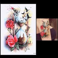 sand clock tattoo designs clock with tattoo promotion shop for promotional clock with tattoo