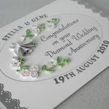 handmade 60th wedding anniversary card folksy