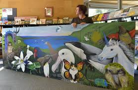 library mural depicts blueskin bay otago daily times online news