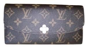 bloom wallet louis vuitton monogram emilie bloom wallet tradesy