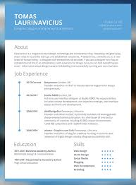 Resume Template Website It Cv Template Free Cv Resume Template 256 Free Cv Templates