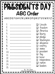 president s day abc order printable presidents day presidents
