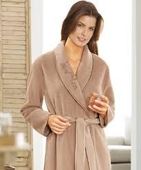 robe de chambre en robe de chambre en molleton polaire 105 cm vison femme damart