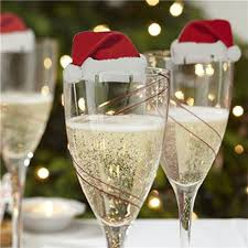 Wine Glass Keychain 10 Piece Christmas Santa Hat Wine Glass Decoration U2013 Super Shop Stop