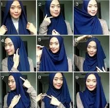 tutorial hijab pashmina kaos yang simple tutorial hijab pashmina kaos simple
