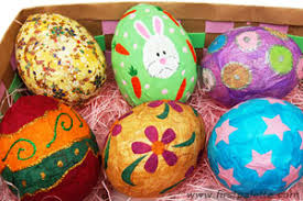 papier mache easter eggs craft kids crafts firstpalette
