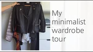 my minimalist wardrobe tour youtube