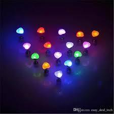 light up earring studs 2018 earrings led heart shaped luminous earrings party