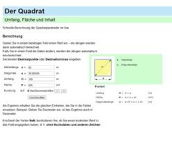 kreisberechnung fläche quadrat umfang fläche formel und berechnung on line