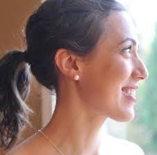bridesmaid pearl earrings genuine pearl stud earring sterling silver and freshwater pearl