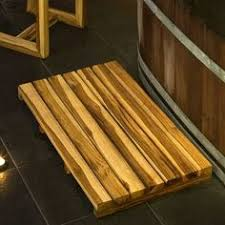 Zen Bath Mat Reclaimed Teak Bath Mat Create A Professional Spa Like Atmosphere