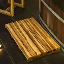Zen Bath Mat Reclaimed Teak Bath Mat Create A Professional Spa Like Atmosphere
