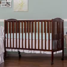 dream on me 2 in 1 full size folding crib espresso toys