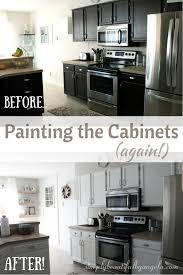 is behr paint for cabinets repainting the kitchen cabinets part 2 the big reveal
