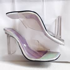 Plastic See Through Chair 60 Off Vintage Shoes 90s Delicious See Through Plastic Heels