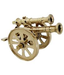 pindia fancy home decor small brass top cannon show piece buy